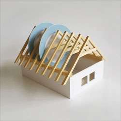 House-Shaped Dish Racks