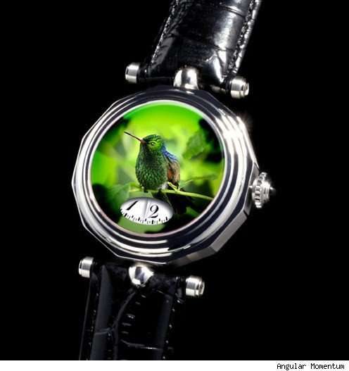Verre Eglomise watch