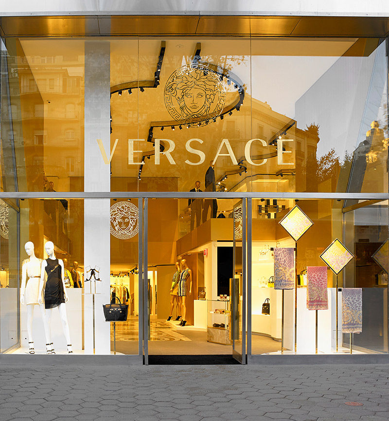Luxurious Heritage Boutiques Versace Barcelona Store