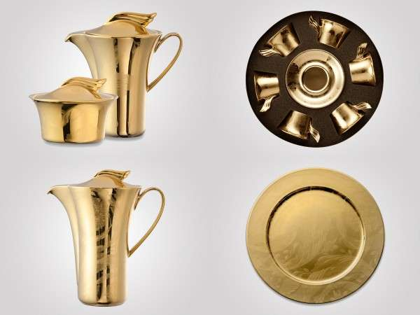 Elegant Gold Tableware Collections