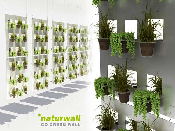 Disposable cup gardens vertical green wall for Jardin vertical interior casero
