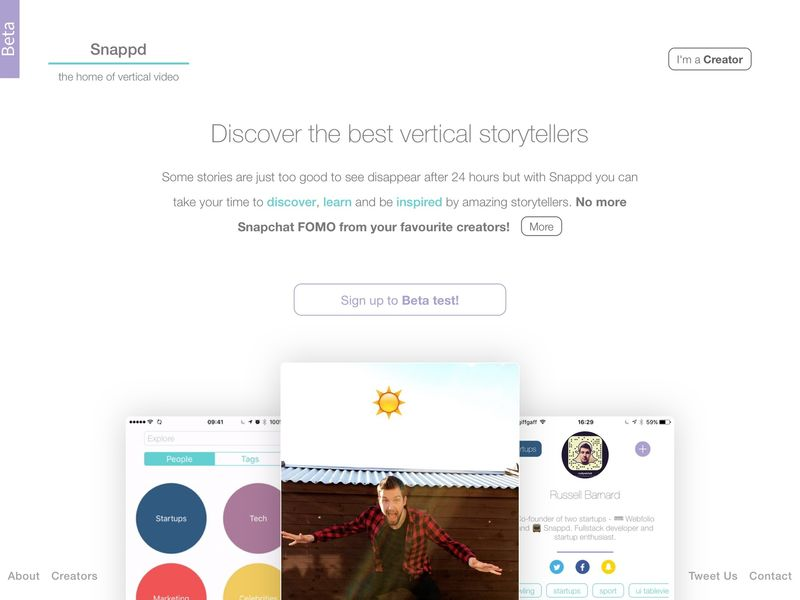 Vertical Video Content Networks