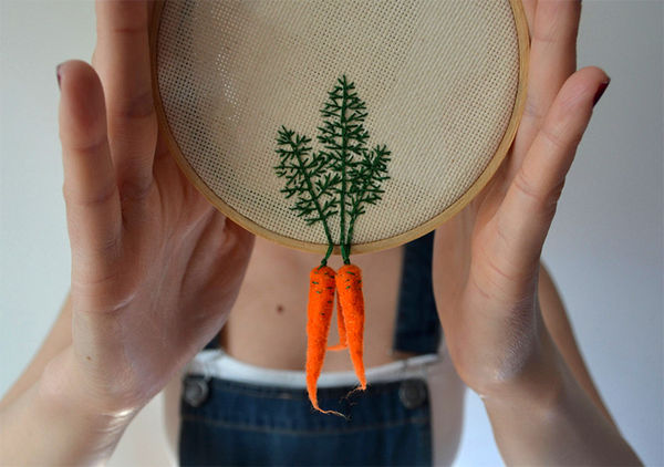 Cross-Stitched Veggies
