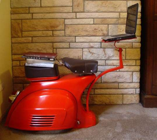 Vespa Scooter Desk