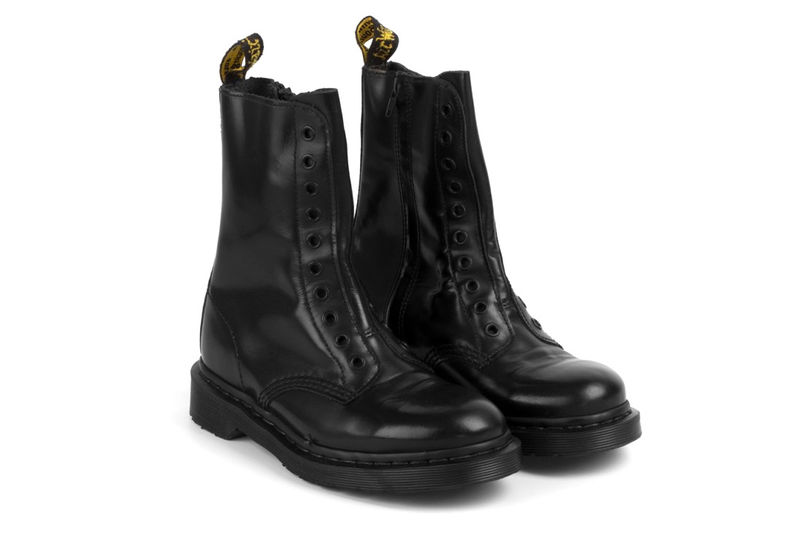 Laceless Leather Combat Boots