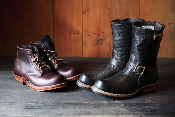 Leather Denim Hybrid Boots