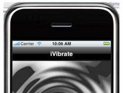 Vibrating iPhone Apps