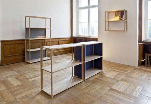 Victor wooden shelves