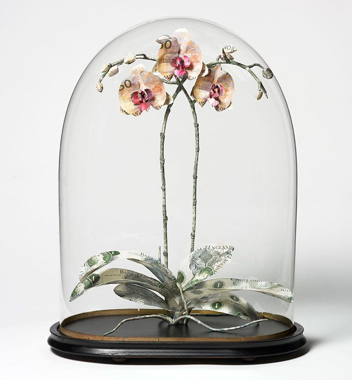 Floral Currency Sculptures
