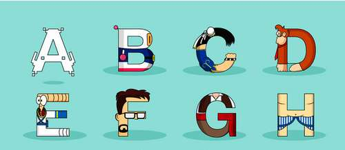 Video Games Characters Alphabet