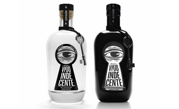 Viejo Indecente liquor packaging