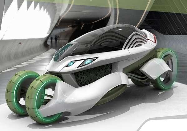 Air-Filtering Pod Cars