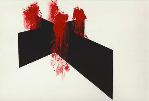 Bloodied Black Panel Paintings