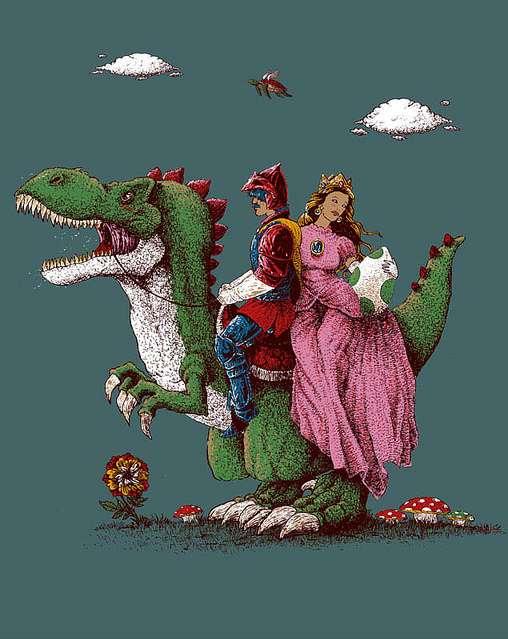 Medieval Mario Illustrations