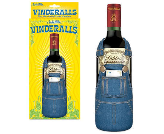 Denim Overall Wine Sleeves