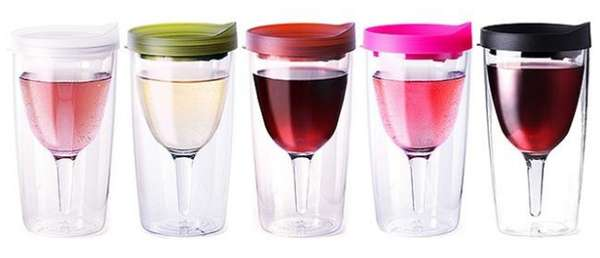 Spill proof drinking glasses vino2go wine sippy cup Wine glasses to go