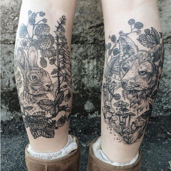 Naturalistic Vintage Tattoos