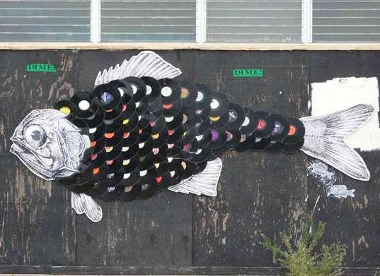 Recycled Vinyl Wall Art