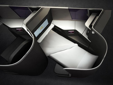 Flat-Comfort Airplane Seats