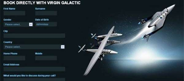 Virgin Galactic is booking