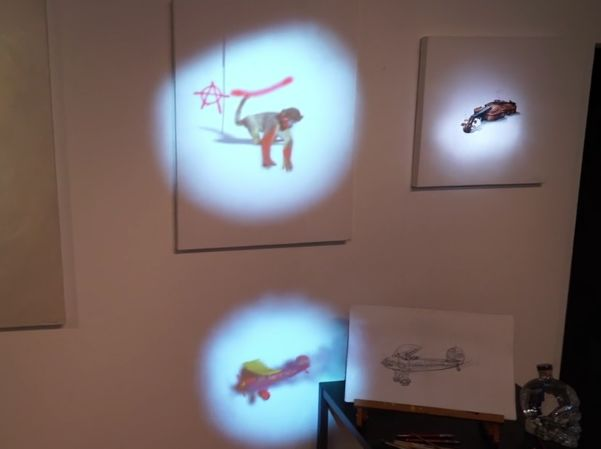 Projected Virtual Paintings