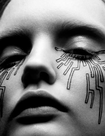 Abstract Futuristic Beauty
