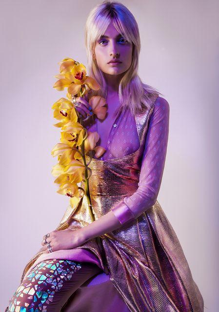 Vivid Violet-Hued Editorials
