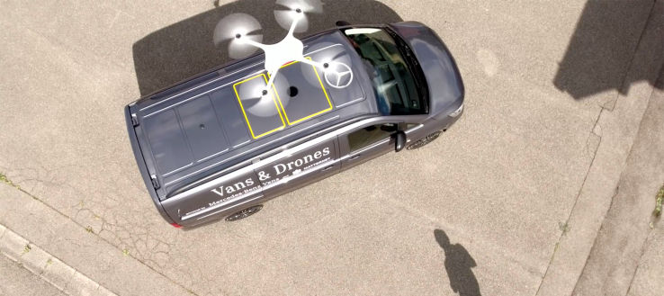 Delivery Drone Van Ports