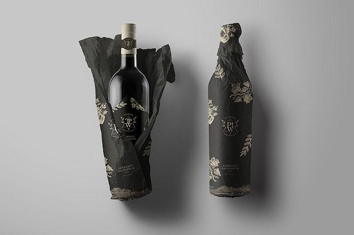 Wrapped Bottle Winery Branding