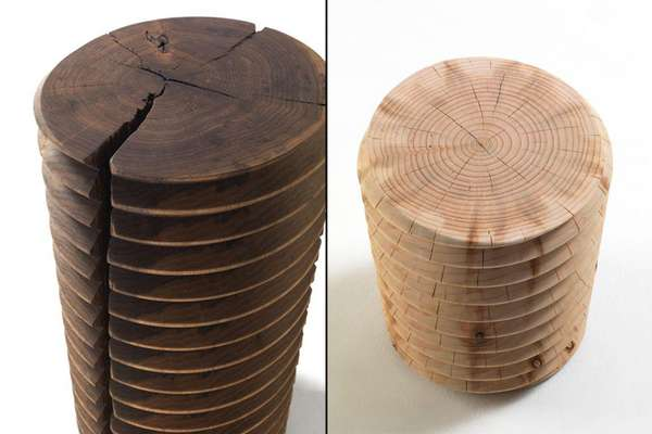 Wooden Screwlike Seats