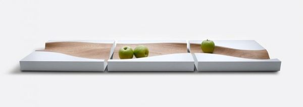 Fluid Wooden Fruit Trays