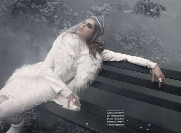 foggy futuristic photography vogue italia a dreamy winter