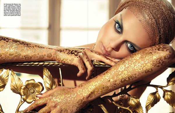 Luxurious Gold-Dripping Editorials