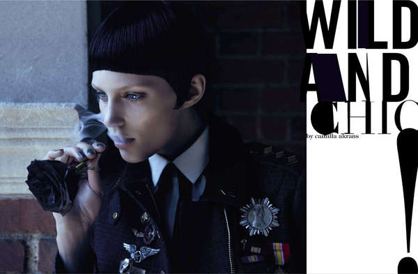 Vogue Italia 'Wild and Chic' Editorial