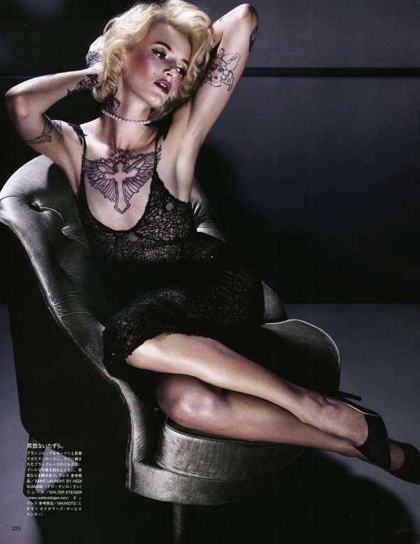 Tattooed Retro-Inspired Editorials