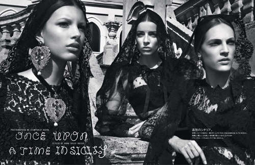 Vogue Japan 'Once Upon a Time in Sicily' Editorial