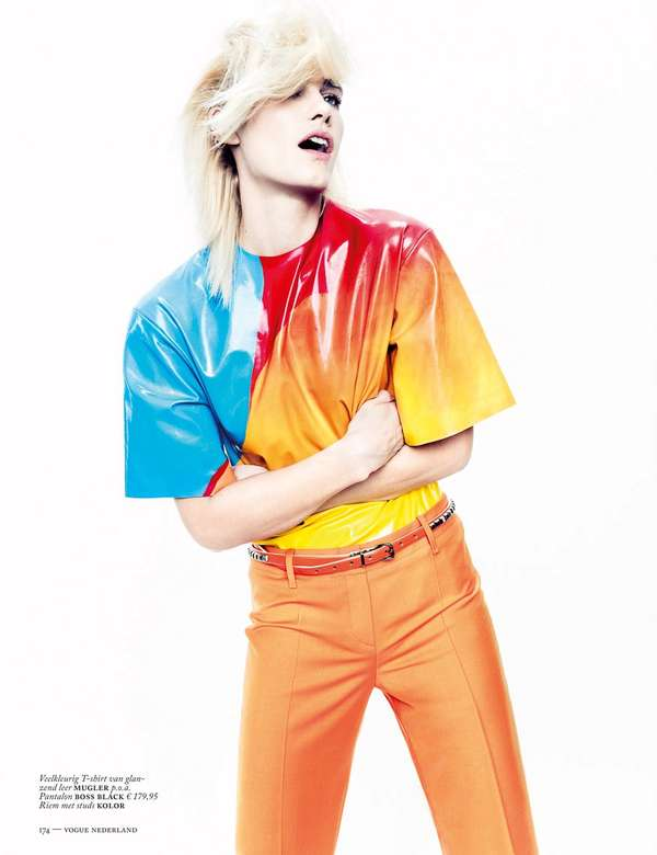 Outlandish Color Blocked Editorials