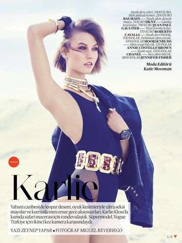 Vogue Turkey Karlie Kloss