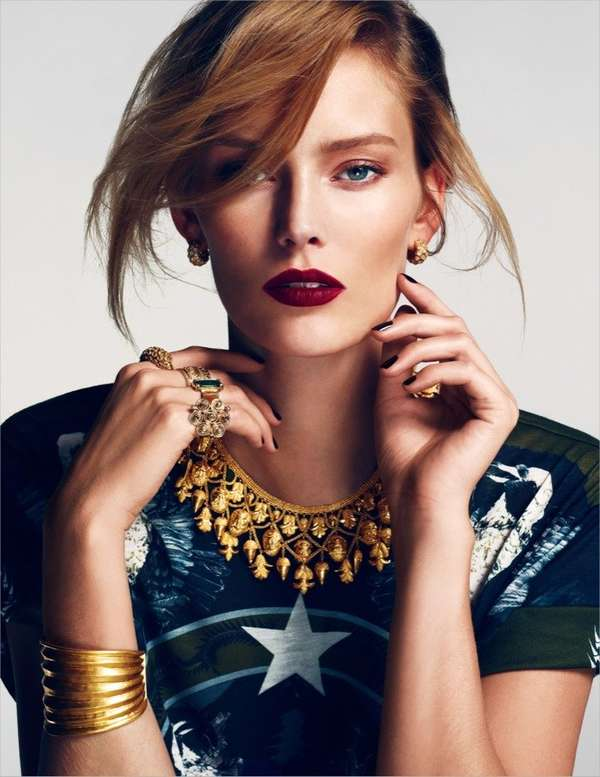 Golden Accessory Editorials