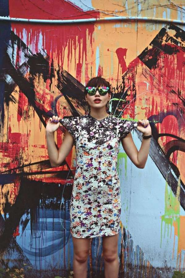 Paint-Splattered 90s Lookbooks