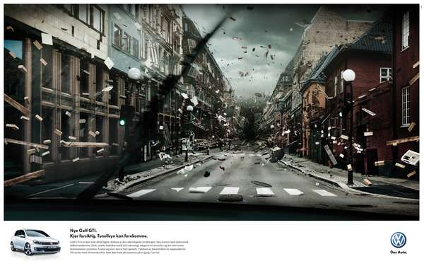 Apocalyptic Auto Ads Volkswagen Gti Tunnel Vision