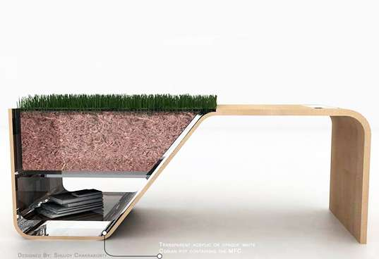Dirt-Powered Furniture