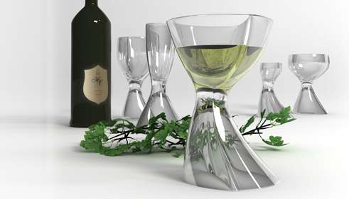 Distorted Hourglass Stemware