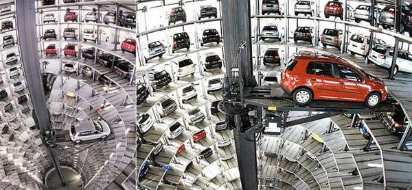 vw's high-tech parking garage: