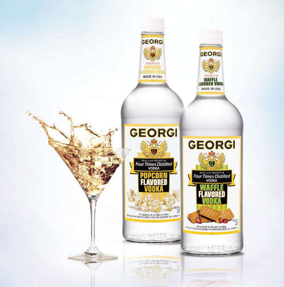 Breakfast inspired booze waffle flavored vodka for Flavored vodka martini recipes