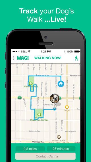 Dog Exercising Apps Wag Dog Walking App