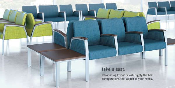 Chic Continuous Chairs Waiting Room Seats