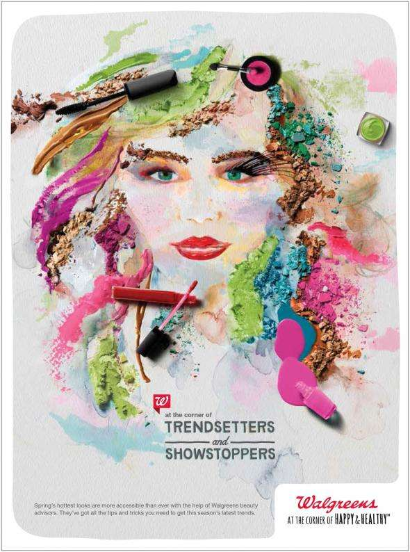 Collaged Cosmetic Campaigns : Walgreens Beauty