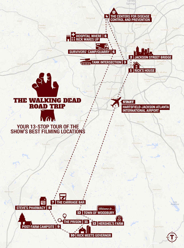 walking dead map