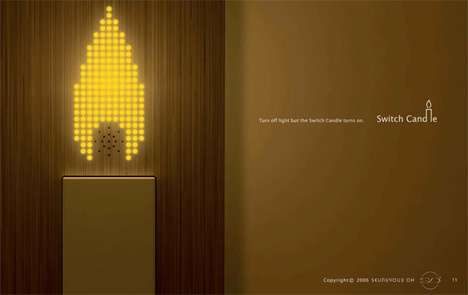 LED Wall Candles